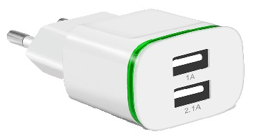 CinkeyPro-EU-Plug-2-Ports-LED-Light-USB-Charger-5V-2A-Wall-Adapter-Mobile-Phone-Micro