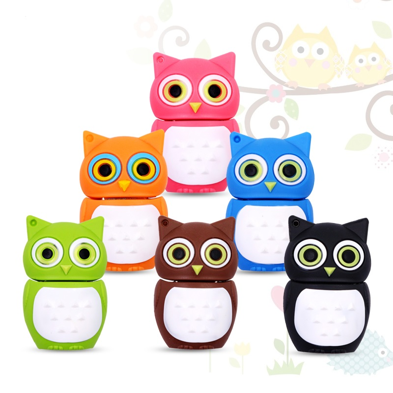 Cute-Cartoon-animal-owl-pendrive-4GB-8GB-16GB-32GB-Memory-Stick-USB-Flash-Drive-USB-2