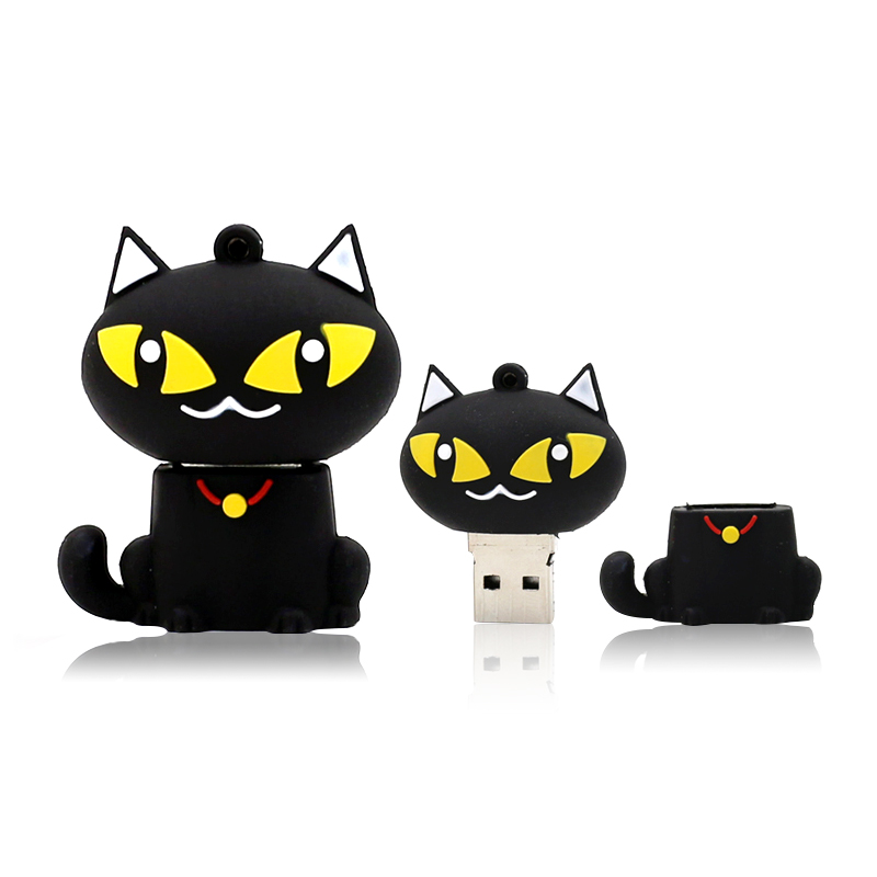 New-usb-2-0-Pendrive-128GB-usb-flash-drive-16gb-32gb-cute-cartoon-cat-4gb-8gb