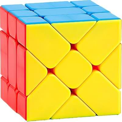 Rubikova kostka Fisher Cube bez nálepek - 1