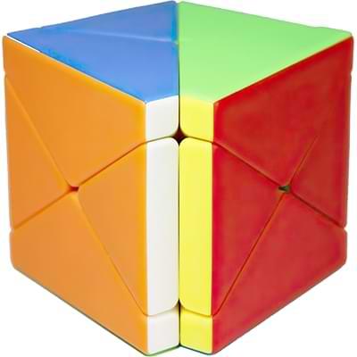 Rubikova kostka - Kostka - Fisher Skewb bez nálepek - 1