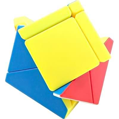 Rubikova kostka - Kostka - Fisher Skewb bez nálepek - 3