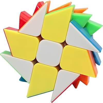 Rubikova kostka Windmill bez nálepek - 2