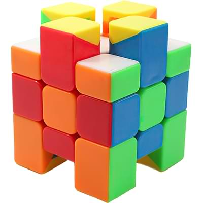 Rubikova kostka Zrcadlová - Bez nálepek - 3x3x3