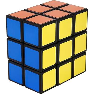 Rubikova kostka - Plochá - Černá - 1x3x3 - 1