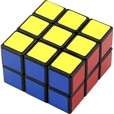 Rubikova kostka - Plochá - Černá - 1x3x3 - 3