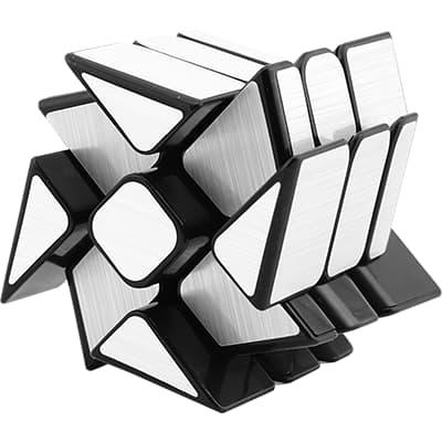 Rubikova kostka Zrcadlová - Mirror Cube Stříbrná