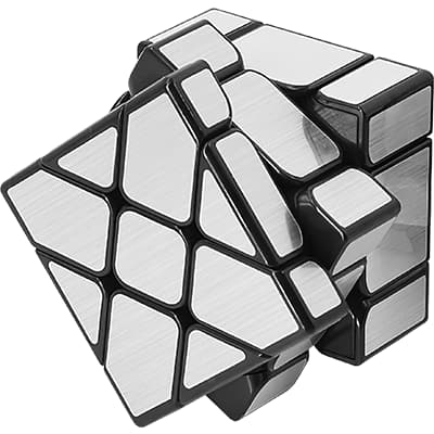 Rubikova kostka Zrcadlová - Mirror Cube - Stříbrná