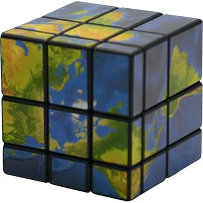 Rubikova kostka Mapa světa
