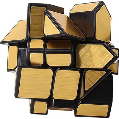 Rubikova kostka Zrcadlová - Mirror Cube - Zlatá