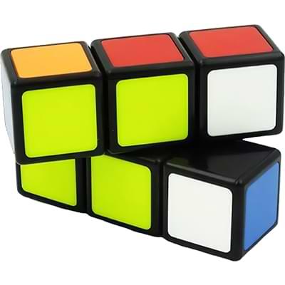 Rubikova kostka - Plochá - Černá - 1x2x3 - 1