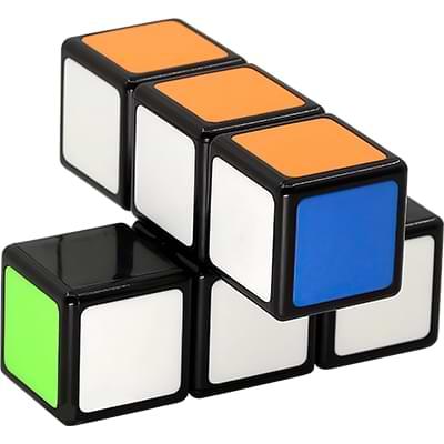Rubikova kostka - Plochá - Černá - 1x2x3 - 2
