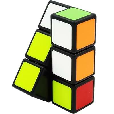 Rubikova kostka - Plochá - Černá - 1x2x3 - 3