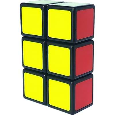 Rubikova kostka - Plochá - Černá - 1x2x3 - 4