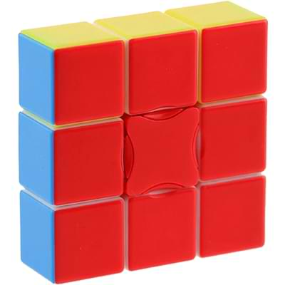 Rubikova kostka - Plochá - Bez nálepek - 1x3x3 - 1