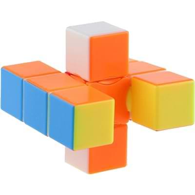 Rubikova kostka - Plochá - Bez nálepek - 1x3x3 - 2