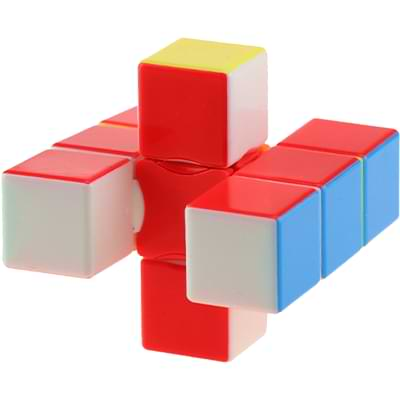 Rubikova kostka - Plochá - Bez nálepek - 1x3x3 - 3