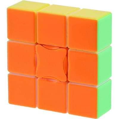 Rubikova kostka - Plochá - Bez nálepek - 1x3x3 - 4