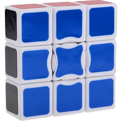Rubikova kostka - Plochá - Bílá - 1x3x3 - 1