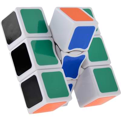 Rubikova kostka - Plochá - Bílá - 1x3x3 - 2
