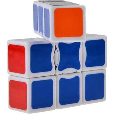 Rubikova kostka - Plochá - Bílá - 1x3x3 - 3