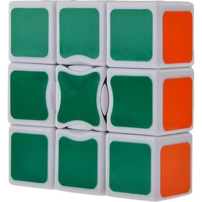 Rubikova kostka - Plochá - Bílá - 1x3x3 - 4