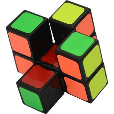 Rubikova kostka - Plochá - Černá - 1x3x3 - 2