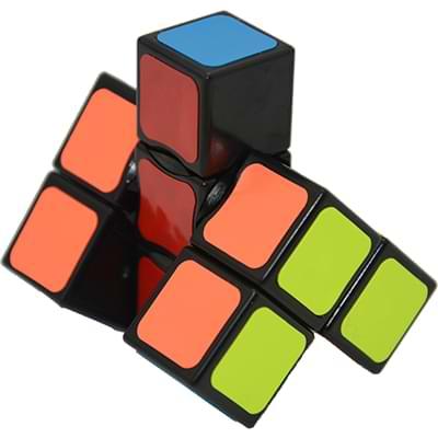 Rubikova kostka - Plochá - Černá - 1x3x3 - 4