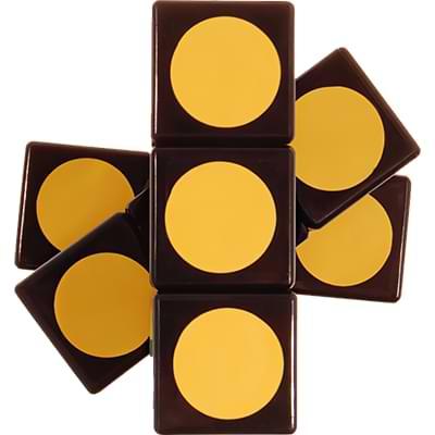 Rubikova kostka - Plochá - Černá s puntíky - 1x3x3 - 4