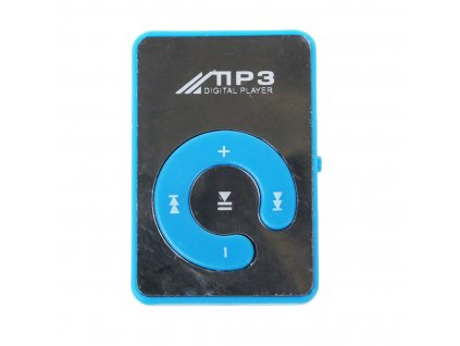 Mini Espejo Clip USB Mp3 Reproductor de M sica Digital 8 GB SD TF Tarjeta Azul