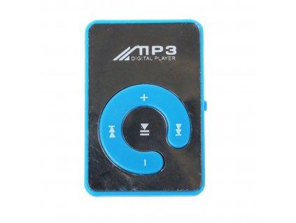 Mini Espejo Clip USB Mp3 Reproductor de M sica Digital 8 GB SD TF Tarjeta Azul