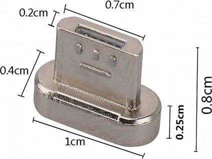 Černý magnetický kabel s mico USB koncovkou - John's Shop