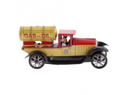 Vintage Gas oil Truck Model Wind up Clockwork Tin Toy Collectible Gift for Kids Children Adult (2)