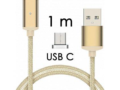 johns shop magneticky kabel m2 zlaty 1m usb c