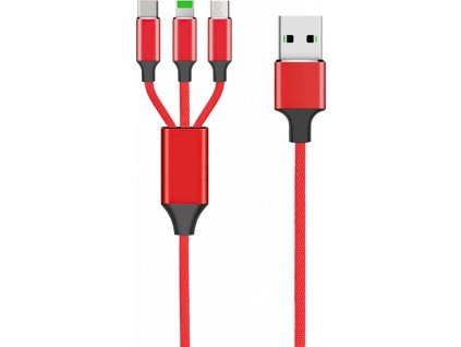 Kabel 3v1 - červený #1