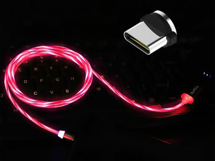 johns shop m5 magneticke kabely svitici ruzovy 1 usb c