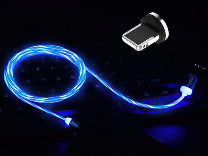 johns shop m5 magneticke kabely svitici modry 1 iphone lightning