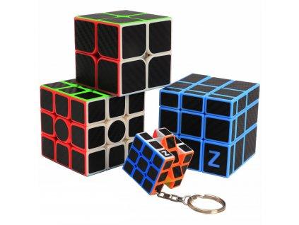 John's Shop Sada Rubikových kostek Černých s přívěskem 1