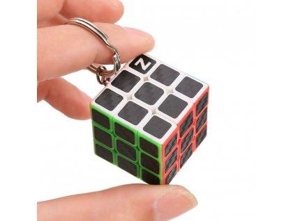 John's Shop Rubikova kostka přívěsek na klíče Černý