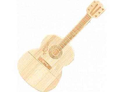 johns shop.usb flash disk dreveny akusticka kytara bambus 1