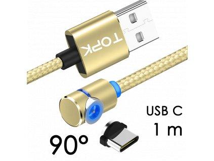 johns shop magneticky kabel m5 90 zlaty 1m usb c