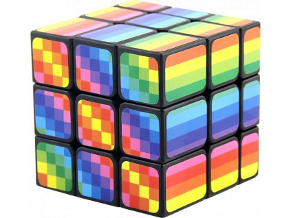 johns shop rubikova kostka mirror cube duhova gay pride rainbow 1