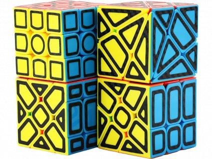 johns shop sada rubikovych kostek barevna carbonove nalepky obrysy 2