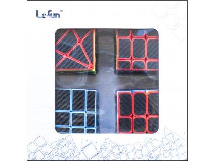johns shop rubikova kostka sada 4 kusu carbon zrcadlova mirror cube 3x3x3 axis windtalkers fisher cube 01