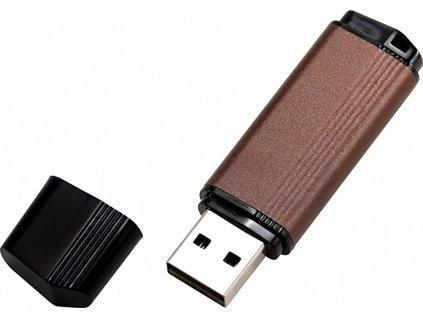 johns shop usb flash disk ceno metalicky hnedy 1