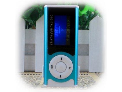 MP3 - Modrá - S displejem, reproduktorem a svítilnou