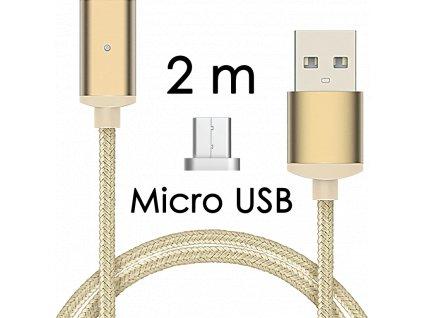 johns shop magneticky kabel m2 zlaty 2m micro usb