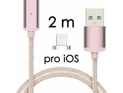 johns shop magneticky kabel m2 ruzovy 25m pro ios