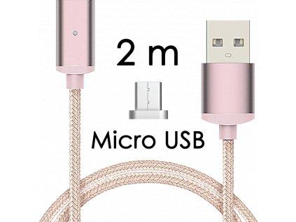 johns shop magneticky kabel m2 ruzovy 2m micro usb