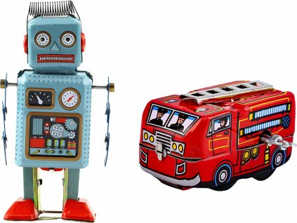 johns shop cz retro hracky sada 2 ks robot hasici 1